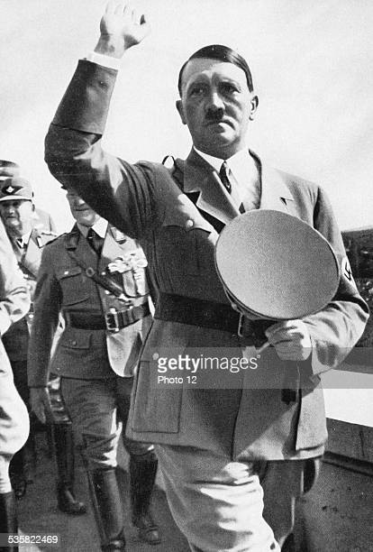 Adolf Hitler on the Zeppelin Stadium during the Party Congress of the NSDAP Weimar Republic