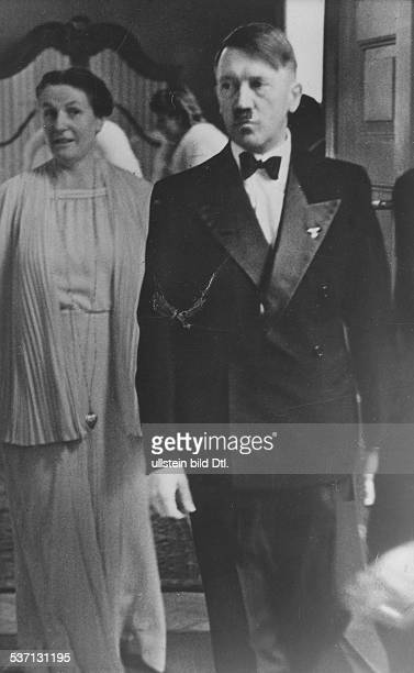 Adolf Hitler, , Politician, Nazi Party, Germany, with Winifred Wagner in the Bayreuth Festspielhaus