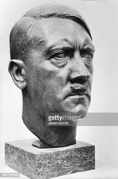 Adolf Hitler Politiker NSDAP D Bronzekopf von H Schwegerle 1943