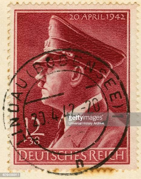 Adolf Hitler Portrait On German Stamp 1942 News Photo