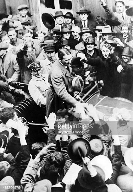 Adolf Hitler released from prison after his 1923 coup attempt known as the Beer Hall Putsch in 1924 in Munich Germany
