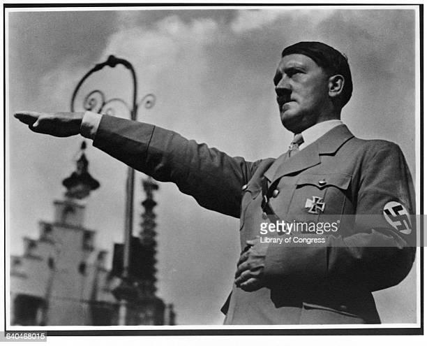 Adolf Hitler Saluting 1934