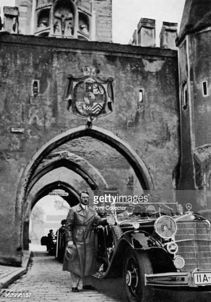 Adolf Hitler visiting Landsberg fortress Germany 1934 Hitler was imprisoned for 8 months at Landsberg for his part in the failed Munich Beer Hall...