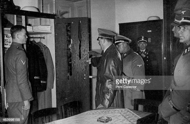 Adolf Hitler visiting the SS Leibstandarte Regiment 1936 The Leibstandarte SS Adolf Hitler was Hitler's personal bodyguard regiment He is accompanied...