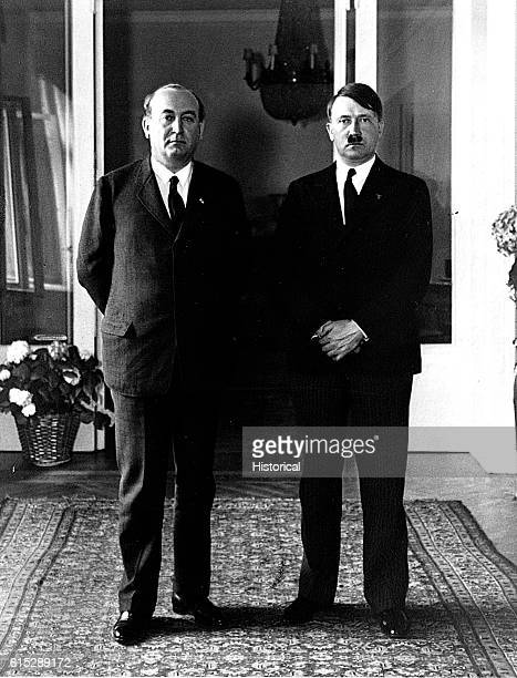 Adolf Hitler was the German Fuhrer from 1933 until his death in 1945 Gyula Gombos was a Hungarian general and politician serving as Prime Minister...