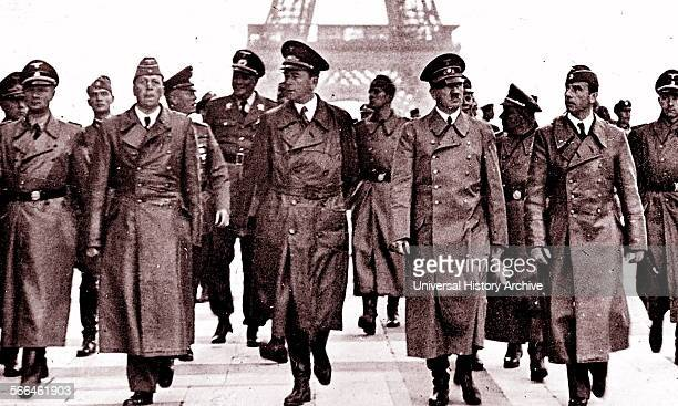 Adolf Hitler with Albert Speer in Paris after the German occupation of northern France June 1940