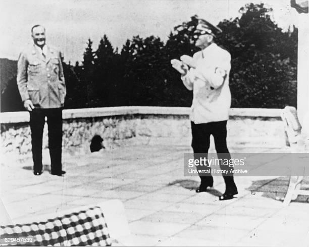 Adolf Hitler with Bodyguard Wilhelm Bruckner at OberSalzberg Germany Movie Still from the Documentary 'Swastika' 1974