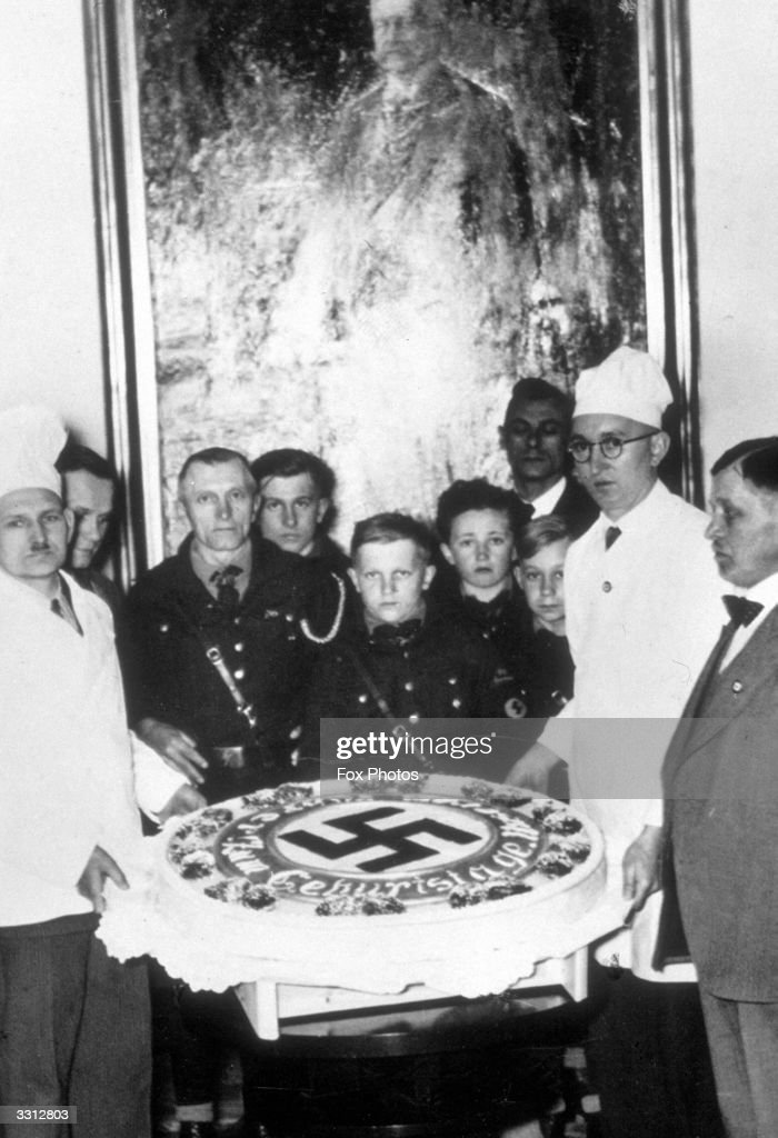 Groovy Adolf Hitlers Birthday Cake Which Was Presented By The Bakers Birthday Cards Printable Riciscafe Filternl