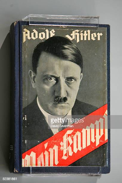 Adolf Hitler's book Mein Kampf is seen on display at the new Holocaust Museum at the Yad Vashem Holocaust Memorial on March 13 2005 in Jerusalem...