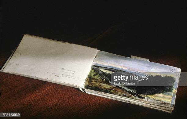 Adolf Hitler's sketchbook kept at the KGB archives since the end of World War II Moscow Russia 2007