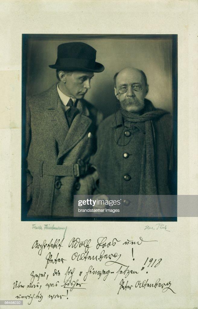 Adolf Loos and Peter Altenberg : News Photo