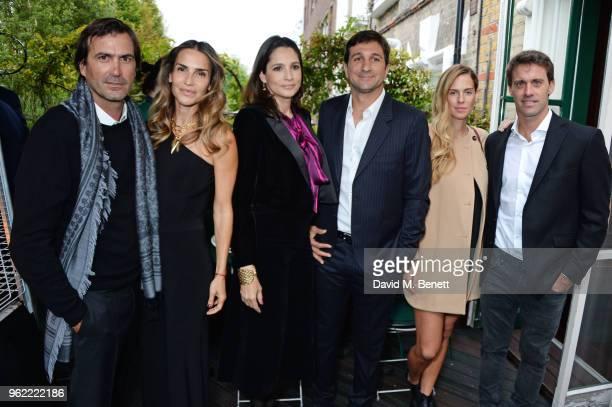 Adolfo Cambiaso Maria Vazquez Astrid Munoz Eduardo Novillo Astrada Agustina Wernicke and Facundo Pieres attend a private dinner hosted by Cartier to...