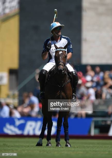 Adolfo Cambiaso of La Dolfina looks on during a match between La Dolfina and La Esquina L M as part of the HSBC 124° Argentina Polo Open at Campo...