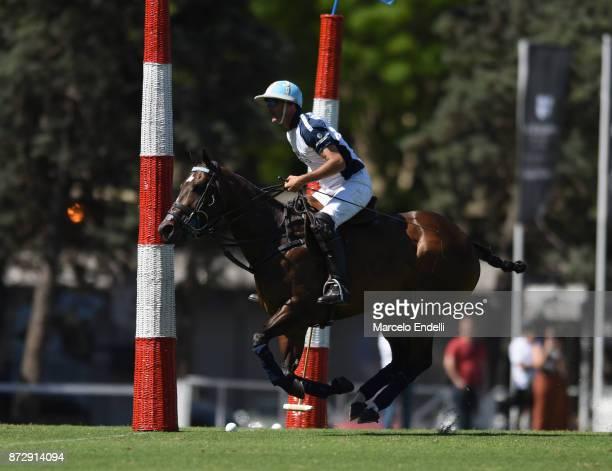 Adolfo Cambiaso of La Dolfina scores a goal during a match between La Dolfina and La Esquina L M as part of the HSBC 124° Argentina Polo Open at...