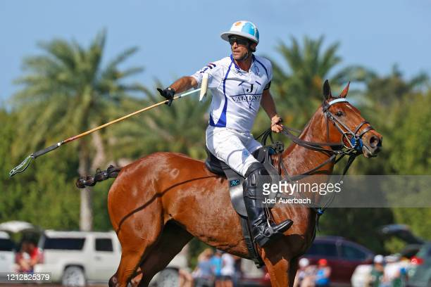 Adolfo Cambiaso of Valiente complains to the umpire that he was fouled by Richard Mille during The Palm Beach Open on March 15 2020 at the Grand...
