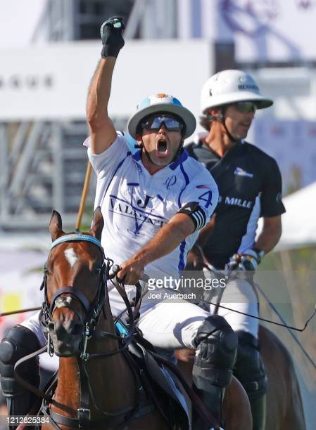 Adolfo Cambiaso of Valiente reacts after making a play against Richard Mille during The Palm Beach Open on March 15 2020 at the Grand Champions Polo...