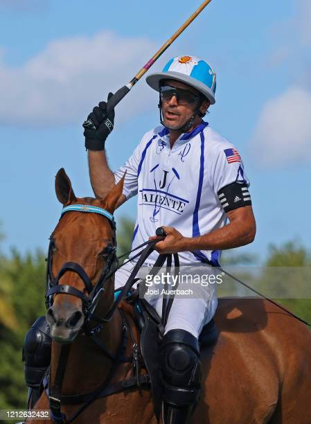 Adolfo Cambiaso of Valiente rides during a break in action against Richard Mille during The Palm Beach Open on March 15 2020 at the Grand Champions...