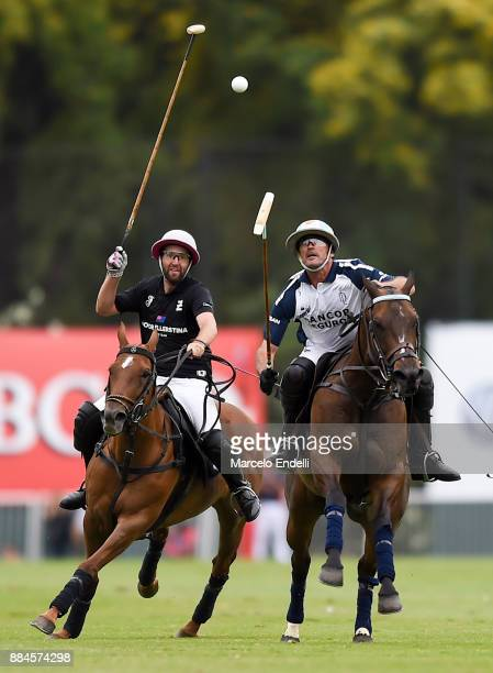Adolfo Cambiasso of La Dolfina competes for the ball with Pablo Pieres of Ellerstina during the final match between La Dolfina and La Ellerstina as...