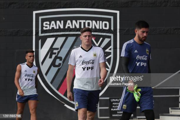 Adolfo Gaich during a training session at San Antonio Training Camp on September 08 2019 in San Antonio Texas