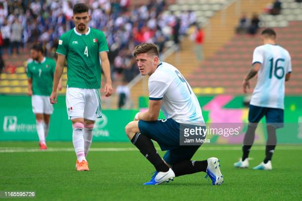 Adolfo Gaich of Argentina looks on during Men´s football First Round Group A match between Mexico and Argentina on Day 6 of Lima 2019 Pan American...