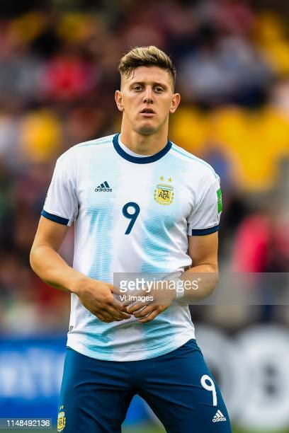 Adolfo Gaich of Argentina U20 during the FIFA U20 World Cup Poland 2019 group F match between Portugal U20 and Argentina U20at BielskoBiala Stadium...