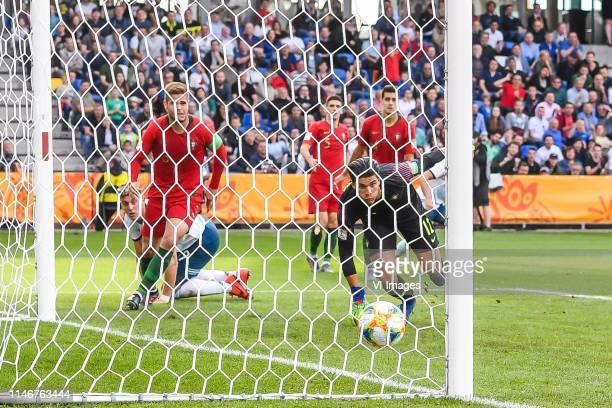Adolfo Gaich of Argentina U20 scores during the FIFA U20 World Cup Poland 2019 group F match between Portugal U20 and Argentina U20at BielskoBiala...