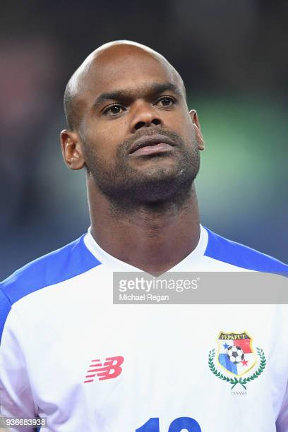 Adolfo Machado of Panama looks on during the International Friendly match between Denmark and Panama at Brondby Stadion on March 22 2018 in Brondby...
