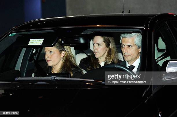 Adolfo Suarez Illana and his wife Isabel Flores attend the funeral chapel for Prince Kardam of Bulgaria on April 7, 2015 in Madrid, Spain.