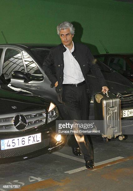 Adolfo Suarez Illana arrives at hospital in Madrid Some days ago he revealed to suffer neck cancer on May 8 2014 in Madrid Spain
