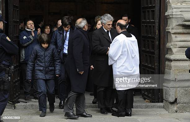 Adolfo Suarez Illana attend the funeral for Adolfo Suarez the first Prime Minister of Democracy in Spain on March 25 2014 in Avila Spain