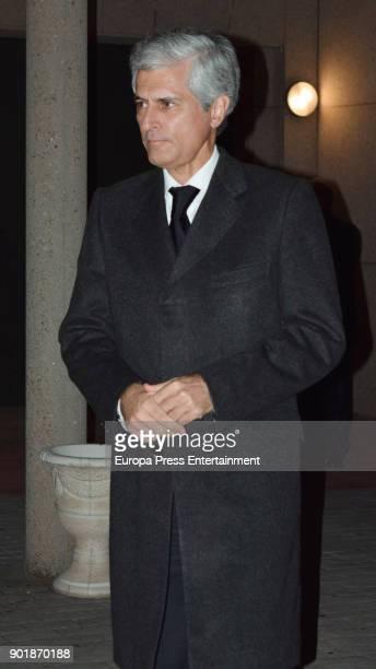 Adolfo Suarez Illana attends the funeral chapel for Aurelio Menendez at La Paz on January 4 2018 in Madrid Spain