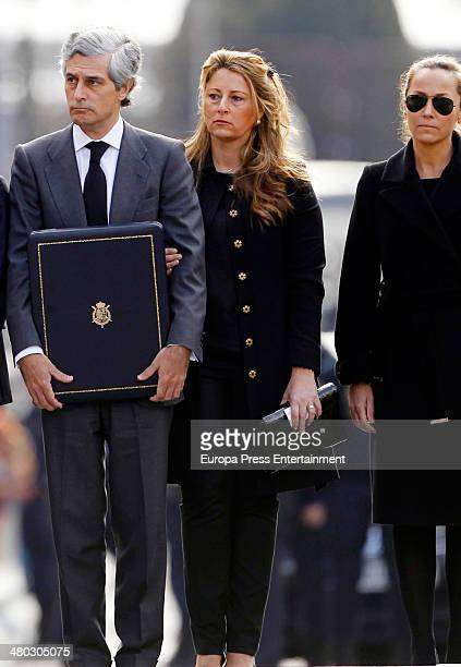 Adolfo Suarez Illana Isabel Flores and Sonsoles Suarez attend the funeral chapel for Adolfo Suarez the prime minister who led Spain to democracy at...