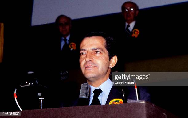 Adolfo Suarez President of the Spanish government from 1977 to 1981 in the Congress of the Deputies Madrid Spain