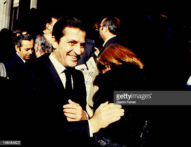 Adolfo Suarez President of the Spanish Government the day that was approved by a majority the New Constitution 6th December 1978 Madrid Spain