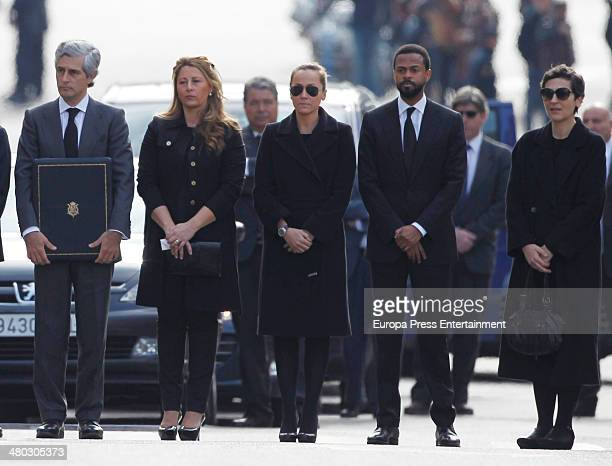 Adolfo Suarez relatives attend the funeral chapel for Adolfo Suarez the prime minister who led Spain to democracy at Sapnish Parliament on March 24...