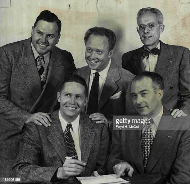 NOV 6 1949 FEB 18 1950 Adolph Coors III signs a contract representing on expenditure of more than $70000 with Al G Meyer manager of KMYR and...