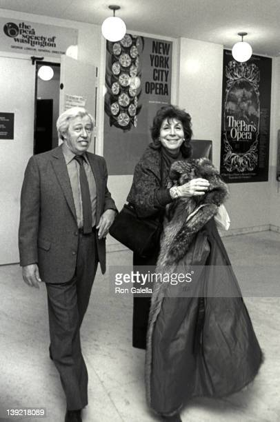 Adolph Green and Betty Comden attend Kennedy Center Honors Awards Party on December 6 1980 at the State Department Building in Washington DC