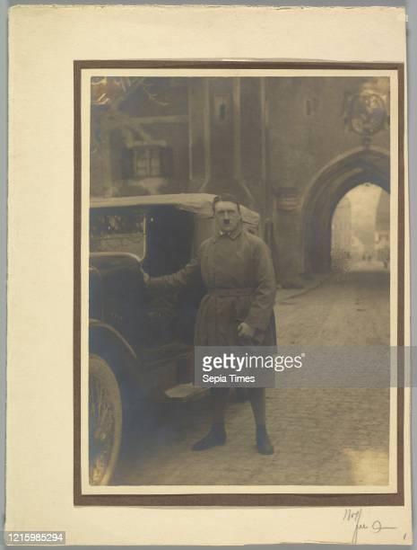 Adolph Hitler Leaving Landsberg Prison. December 20. 1924. Gelatin silver print. 22.2 x 16.4 cm . Photographs. Heinrich Hoffmann .