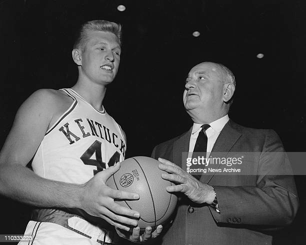 Adolph Rupp Coach University of Kentucky With Charles ''Cotton'' Nash