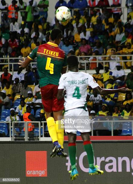 Adolphe Teikeu of Cameroon in action during the 2017 Africa Cup of Nations group A football match between Cameroon and Guinea Bissau at the l'Amitié...