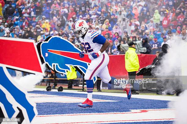 Adolphus Washington of the Buffalo Bills enters the field during pregame ceremonies for the game against the New England Patriots on October 30 2016...