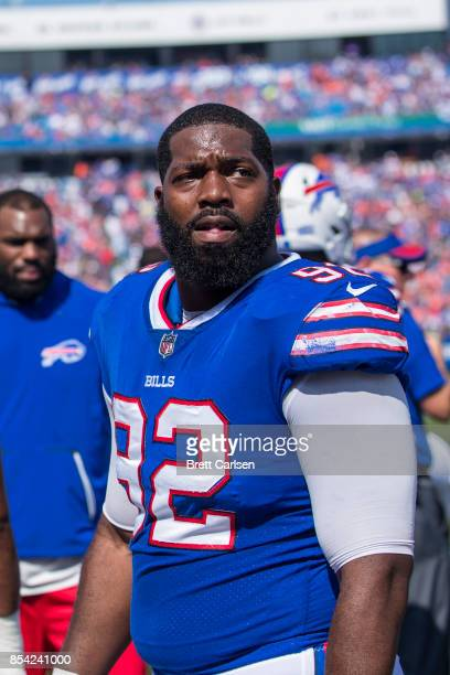 Adolphus Washington of the Buffalo Bills looks to the stands before the game against the Denver Broncos on September 24 2017 at New Era Field in...