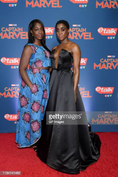Adoma Amoah and actress Lashana Lynch attend the 'Captain Marvel' Canadian Premiere held at Scotiabank Theatre on March 06 2019 in Toronto Canada
