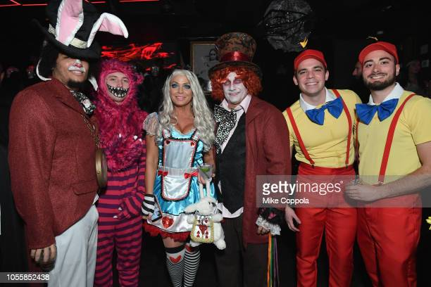 Adonis Adames Arik Mazur Jennifer Mazur Kevin Mazur Zach Mazur and Eric Sweetapple attend Heidi Klum's 19th Annual Halloween Party presented by Party...