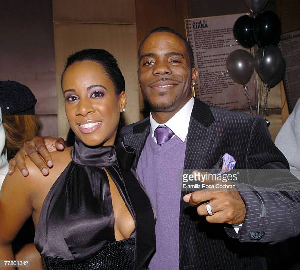 Adonis and Cynthia Shropshire attend Adonis Birthday Party at Lotus on November 7 2007 in New York City New York