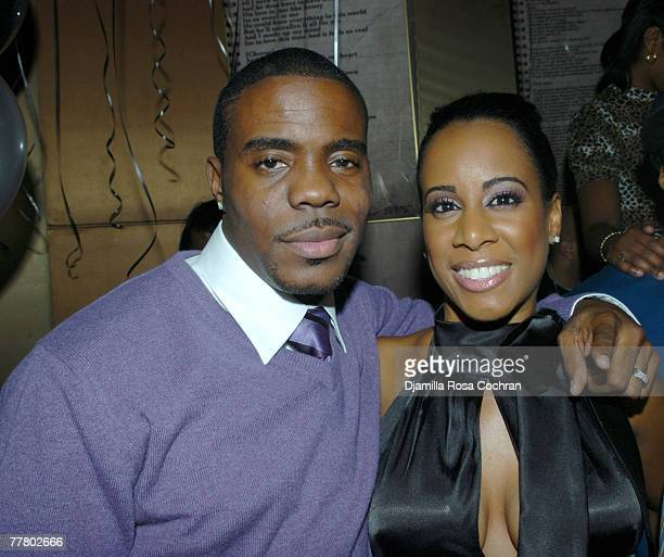 Adonis and Cynthia Shropshire attends Adonis Birthday Party at Lotus on November 7 2007 in New York City New York