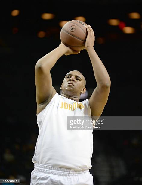 Adonis De La Rosa of Christ the King at the foul line during game action of the 2014 Jordan Brand Classic Regional Team game at the Barclays Center