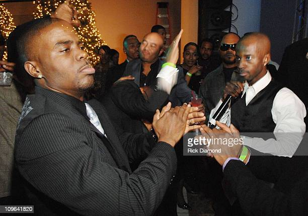 Adonis Shropshire and BryanMichael Cox during BryanMichael Cox Casino Royale Birthday Party at INFORUM in Atlanta Georgia United States