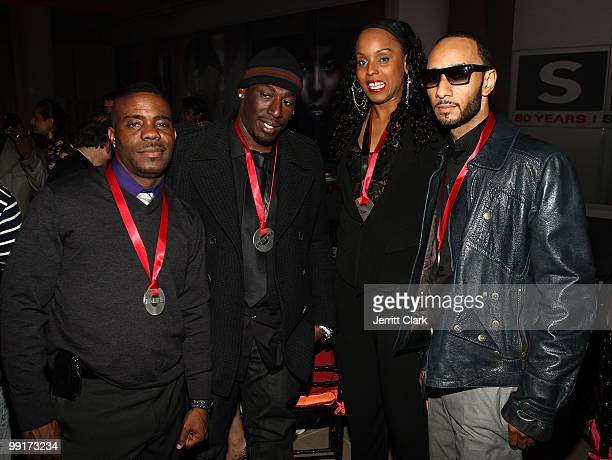 Adonis Shropshire Nate Danja Hill Angela Hunte and Swizz Beatz attend the 2010 SESAC New York Music Awards at the IAC Building on May 12 2010 in New...