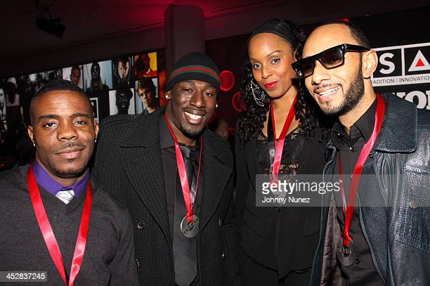 Adonis Shropshire Nate Danja Hills Angela Hunte and Swizz Beatz attend the 2010 SESAC New York Music Awards at the IAC Building on May 12 2010 in New...